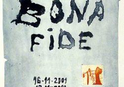Plakat des Künstlers Roger Bonnard für eine Ausstellung in der Galerie Mitte in Dresden.