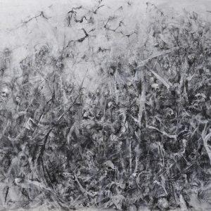 """""""EXODUS"""" ist eine Zeichnung auf Leinwand des Künstlers Reinhard Springer."""