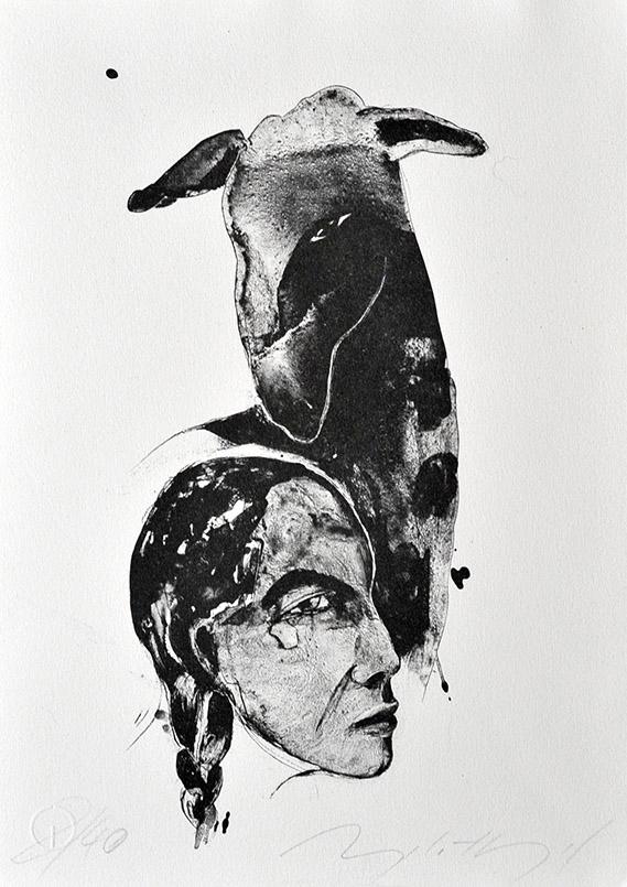 Die titellose Arbeit stammt von der Künstlerin Angela Hampel.