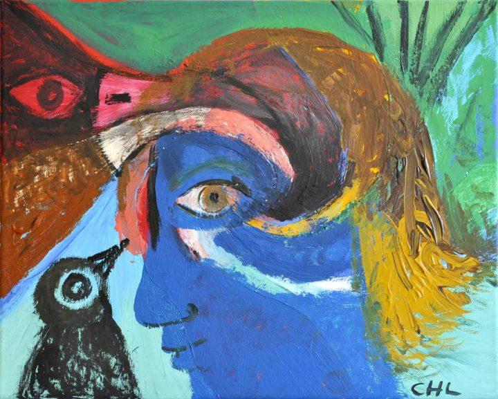 """Die Malerin Christiane Latendorf schuf ihre Arbeit aus Acryl auf Leinwand im Jahr 2020. Das Bild trägt den Titel """"Moment der Freude"""" und wurde von der Künstlerin signiert."""