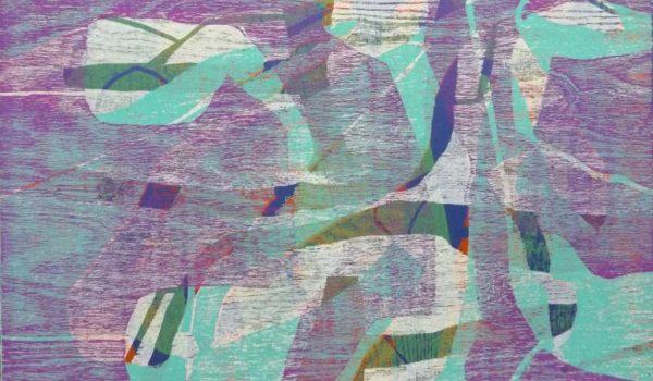 """Der Farbholzschnitt """"Eisformation - Bild 5"""" vom Künstler Frank K. Richter-Hoffmann wurde als Unikatdruck 2014/2017 im Format 40 x 50 cm geschaffen."""