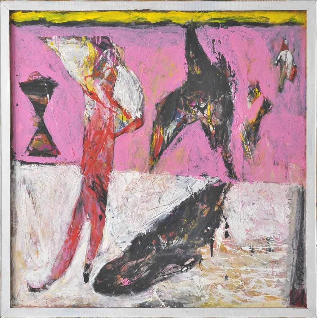 Mit einer Mischtechnik malte der Künstler Frank Panse 2010 im Format 120 x 129 cm auf Hartfaser seine Arbeit