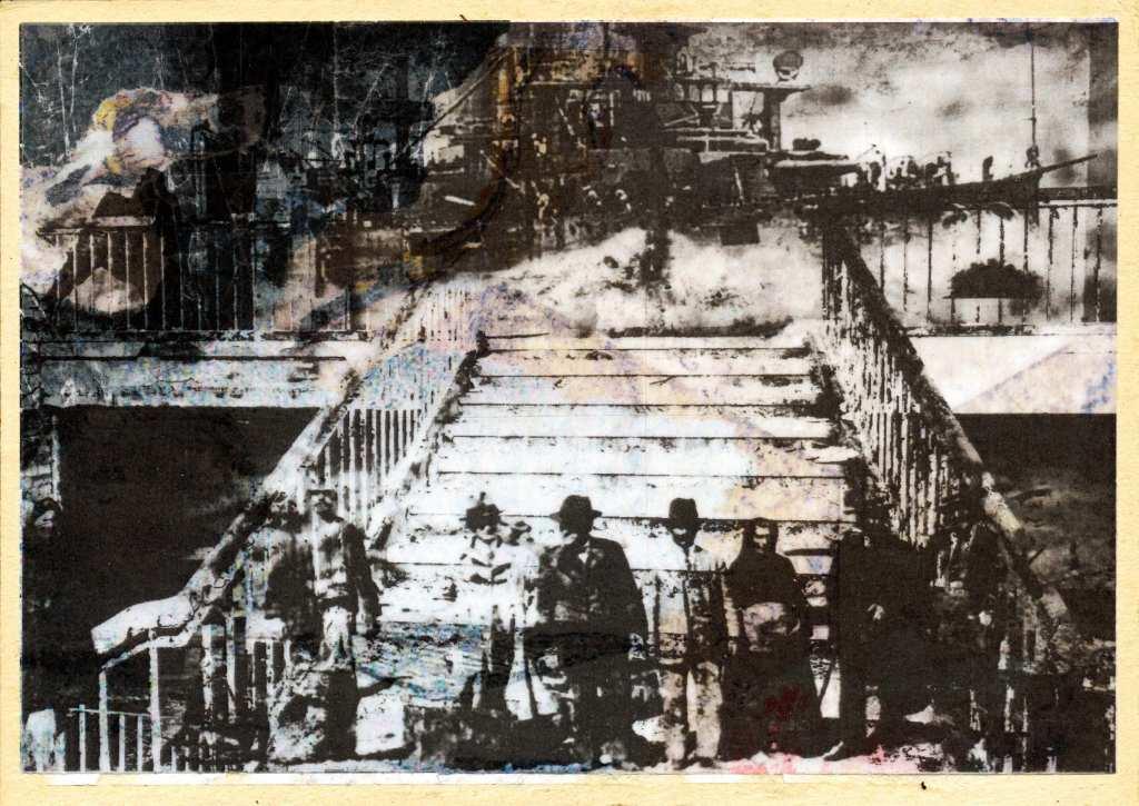 Der Künstler Gregor Kunz gestaltete die Fotomontage
