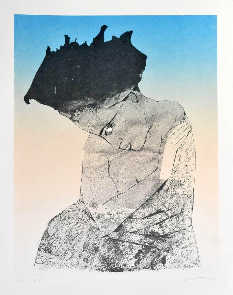 Farbalgrafie ohne Titel der Künstlerin Gudrun Trendafilov