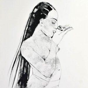 Algrafie der Künstlerin Gudrun Trendafilov