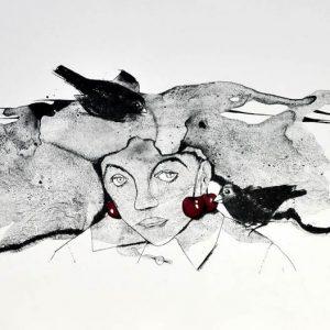 signierte Algrafie der Malerin Gudrun Trendafilov