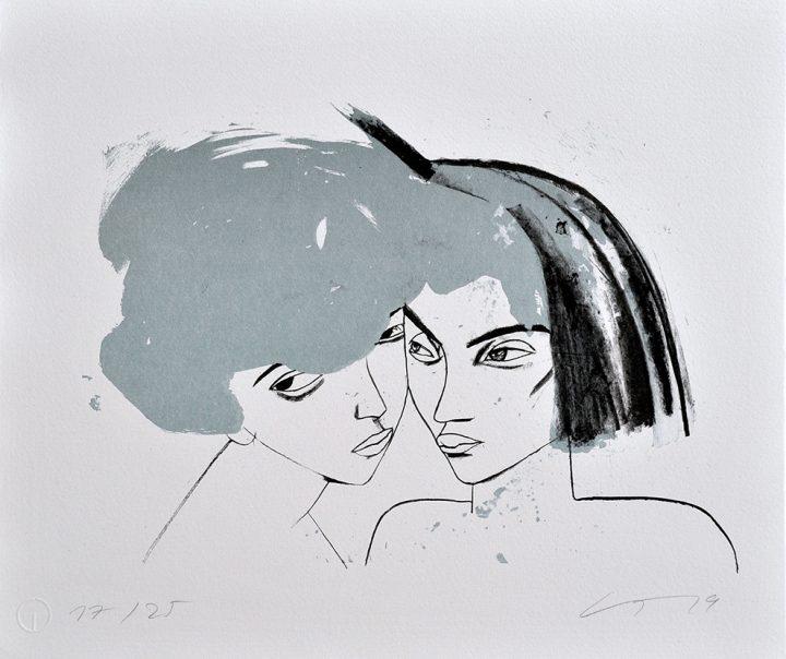 "Die Serigrafie der Malerin Gudrun Trendafilov trägt den Titel ""Paar""."
