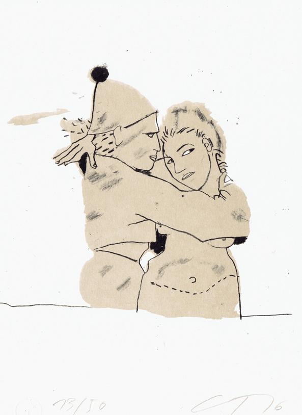 Kunst von Gudrun Trendafilov. Eine signierte Algrafie mit dem Titel