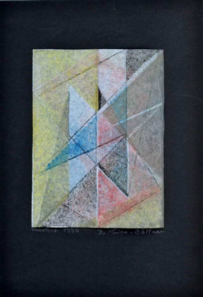 unikater Linoldruck der Grafikerin Inge Thiess-Böttner