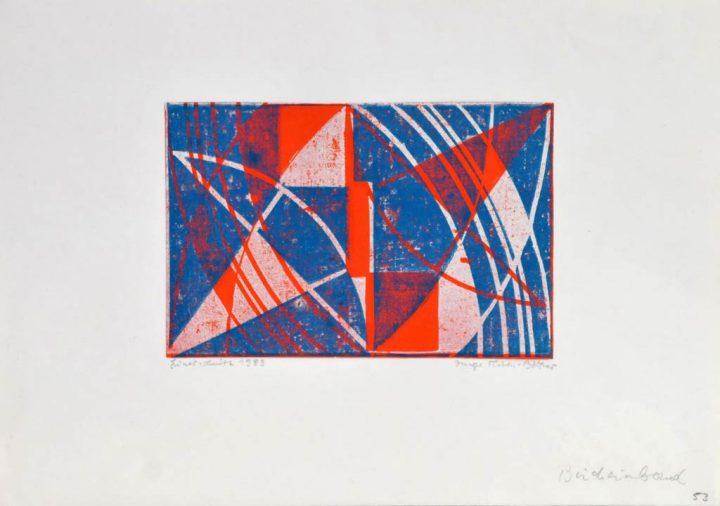 Linoldruck der Künstlerin Inge Thiess-Böttner von 1990