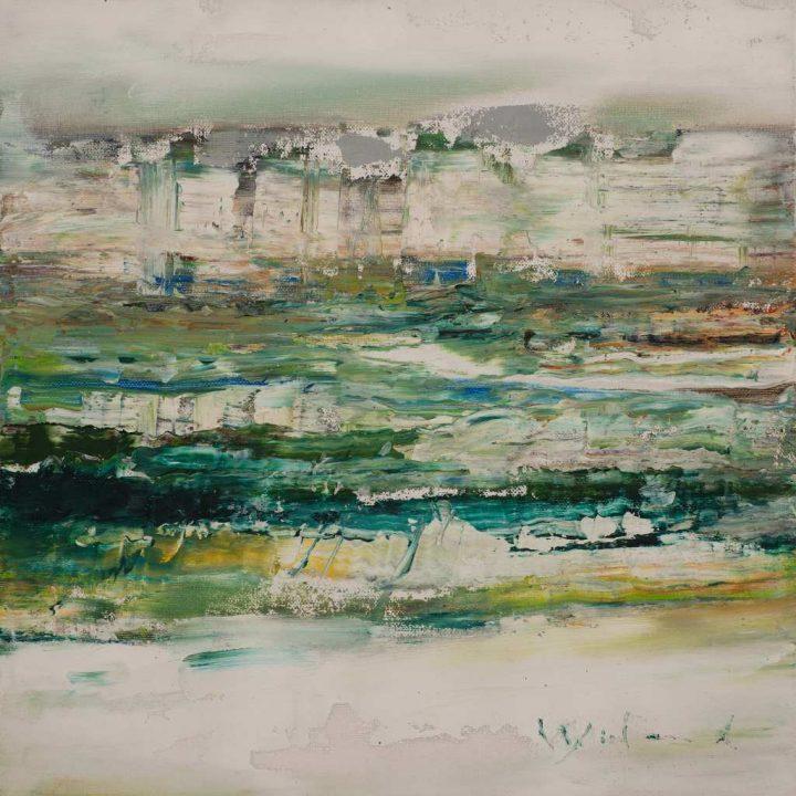 """Mit Öl brachte der Künstler Wieland Richter die Arbeit """"Kühle"""" auf eine Leinwand."""
