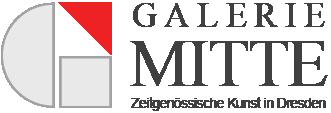 Logo der Galerie Mitte in Dresden. Eine der ältesten, privaten Kunstgalerien der Stadt.