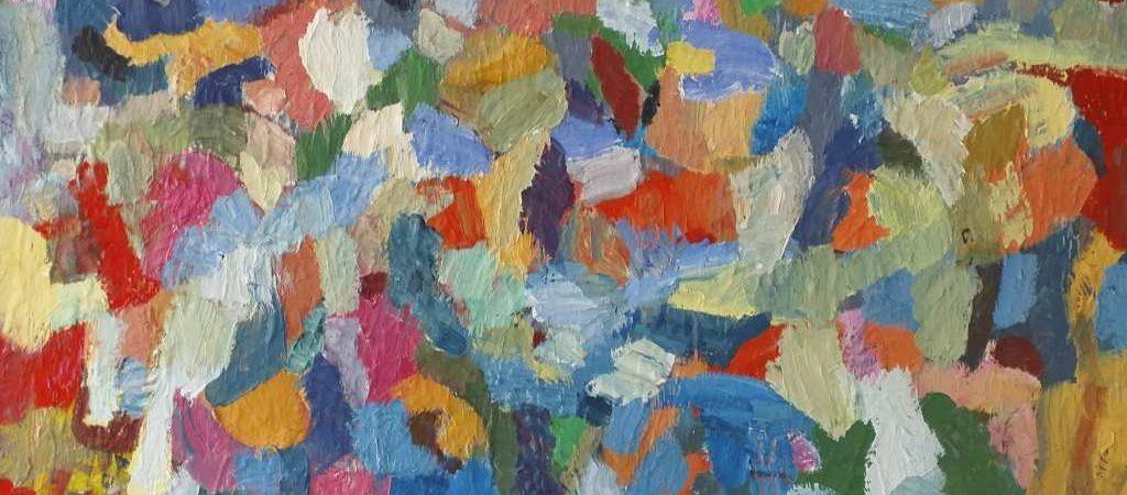 """Arbeit """"Farbkontraste"""" des Künstlers und Malers Mads Svendsen-Merbeth."""