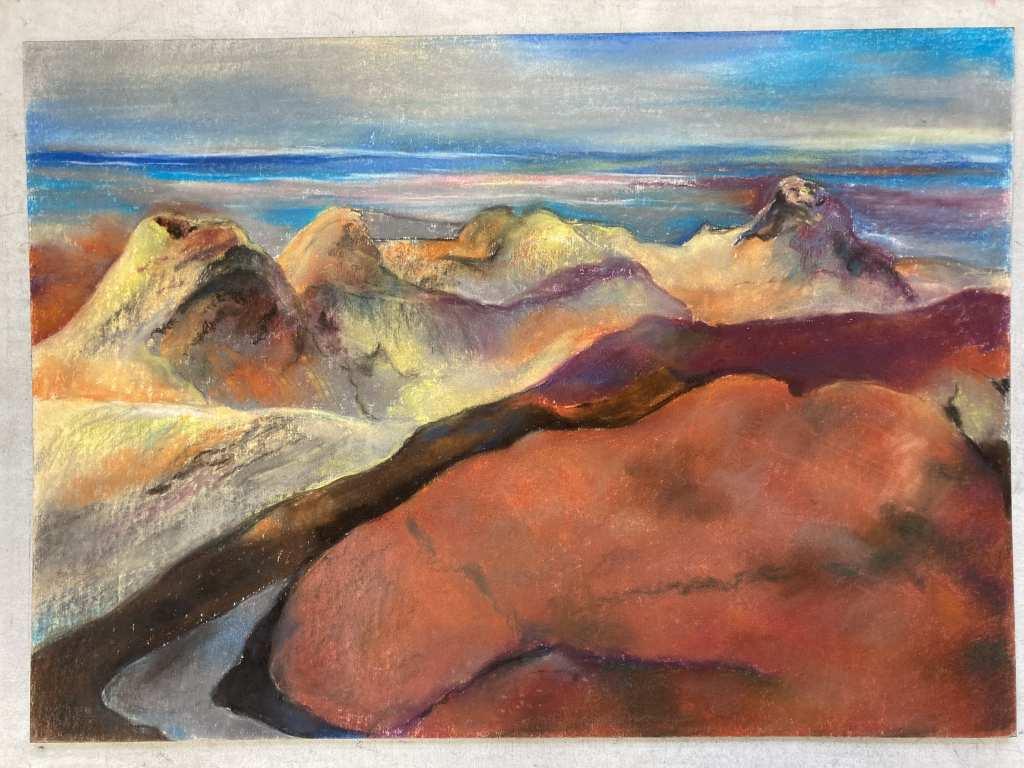 Ein weiteres Pastell des Malers Leo Lessig. Es trägt den Titel