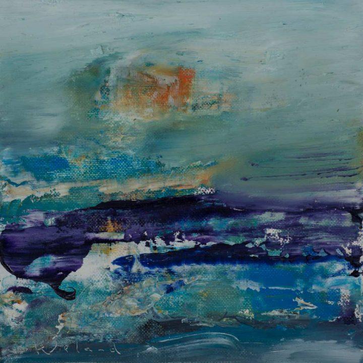 """Die Arbeit """"Cape Cuvier"""" wurde von Wieland Richter 2019 mit Öl auf Karton gemalt."""