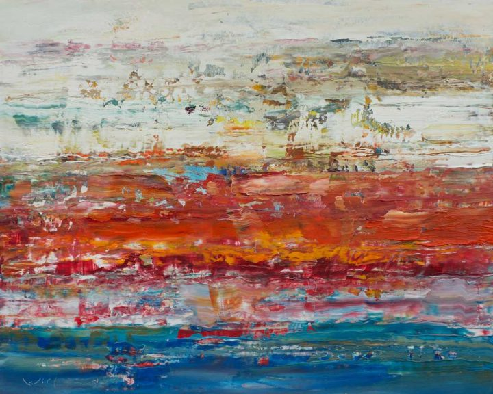 Ein Öl-Gemälde des Künstlers Wieland Richter.