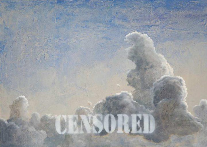 """Der Dresdner Künstler Michael Dobbelt malte seine Arbeit """"Censored 3"""" mit Öl auf Karton."""