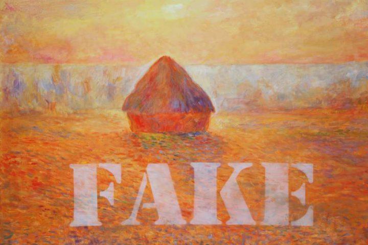"""Der Maler Micheal Dobbelt malte """"Fale 4"""" mit Öl auf Leinwand"""