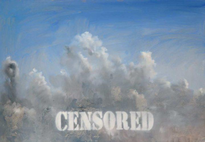 """Küsntler Michael Dobbelt malte seine Arbeit """"Censored 4"""" 2013 mit Öl auf Karton."""