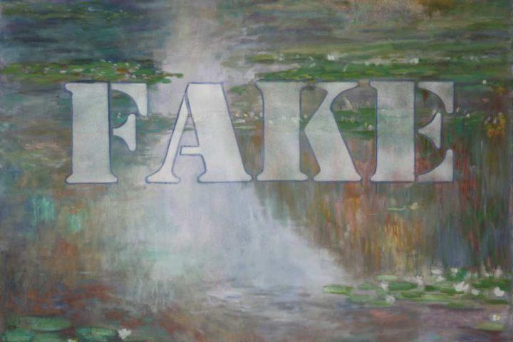 "Öl auf Leinwand mit dem Titel ""Fale 2"" des Malers Michael Dobbelt"