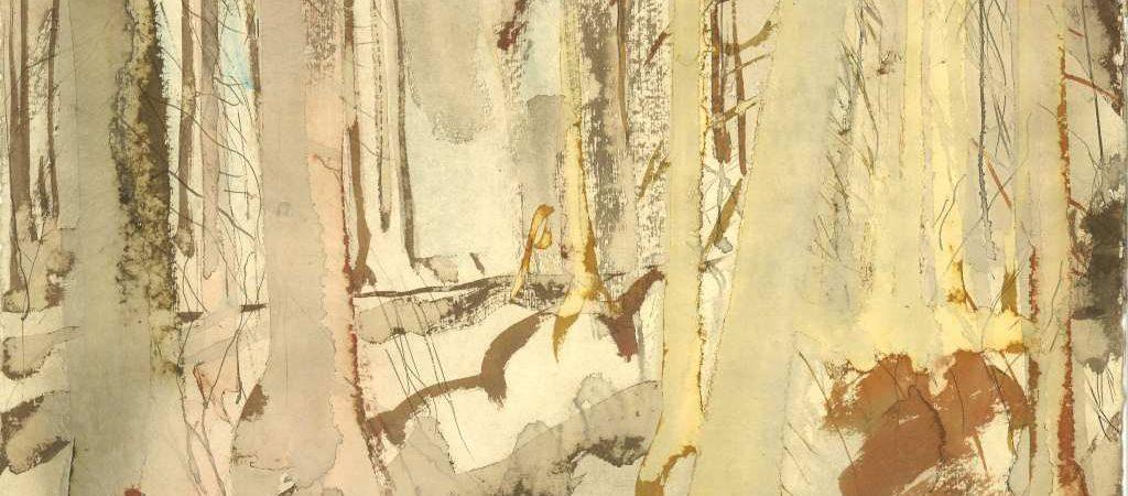 Eine Mischtechnik auf Papier vom Maler Michael Klose. Das Kunstwerk hat weder Titel noch Jahresangabe.