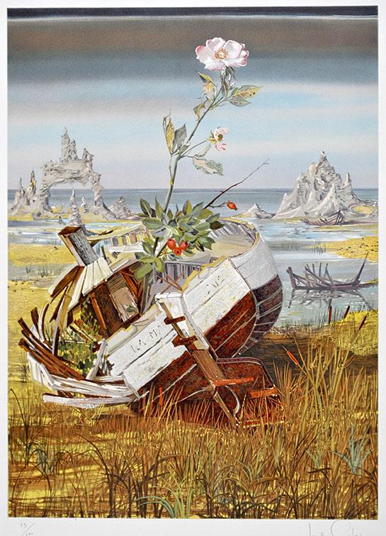 """La Barque Eglantine"" ist eine farblithographie des Künstlers Pierre le Colas."