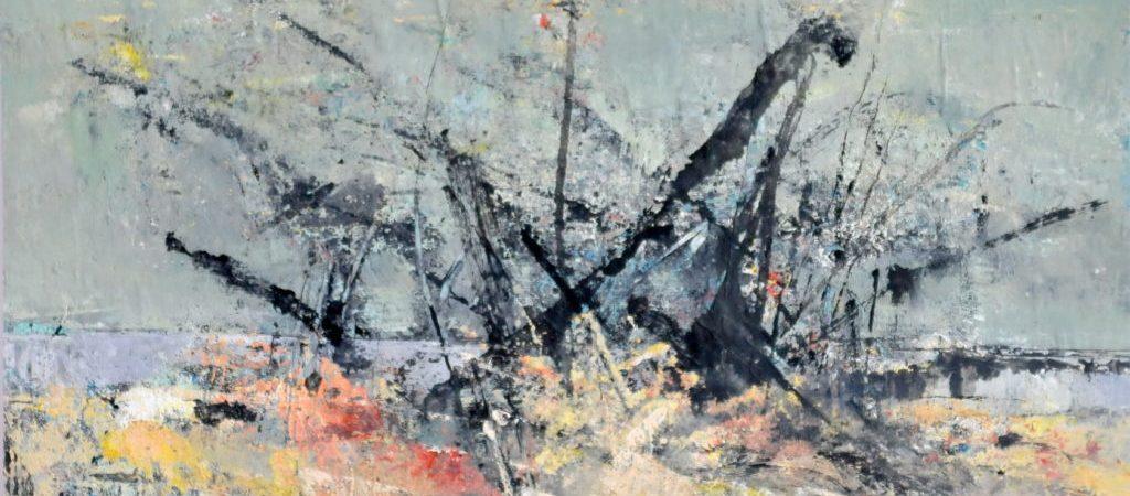 """Öl auf Papier """"Strandgut #2"""" des Malers Reinhard Springer"""