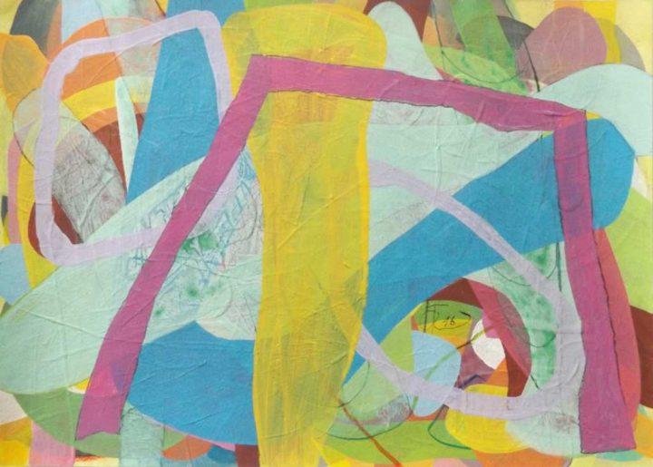 """Arbeit aus dem Zyklus """"Kreise im Raum von Wirklichkeit"""" des Malers Frank K. Richter-Hoffmann"""