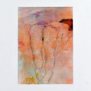 "Pastell ""Akt"" des Malers Roger Bonnard"