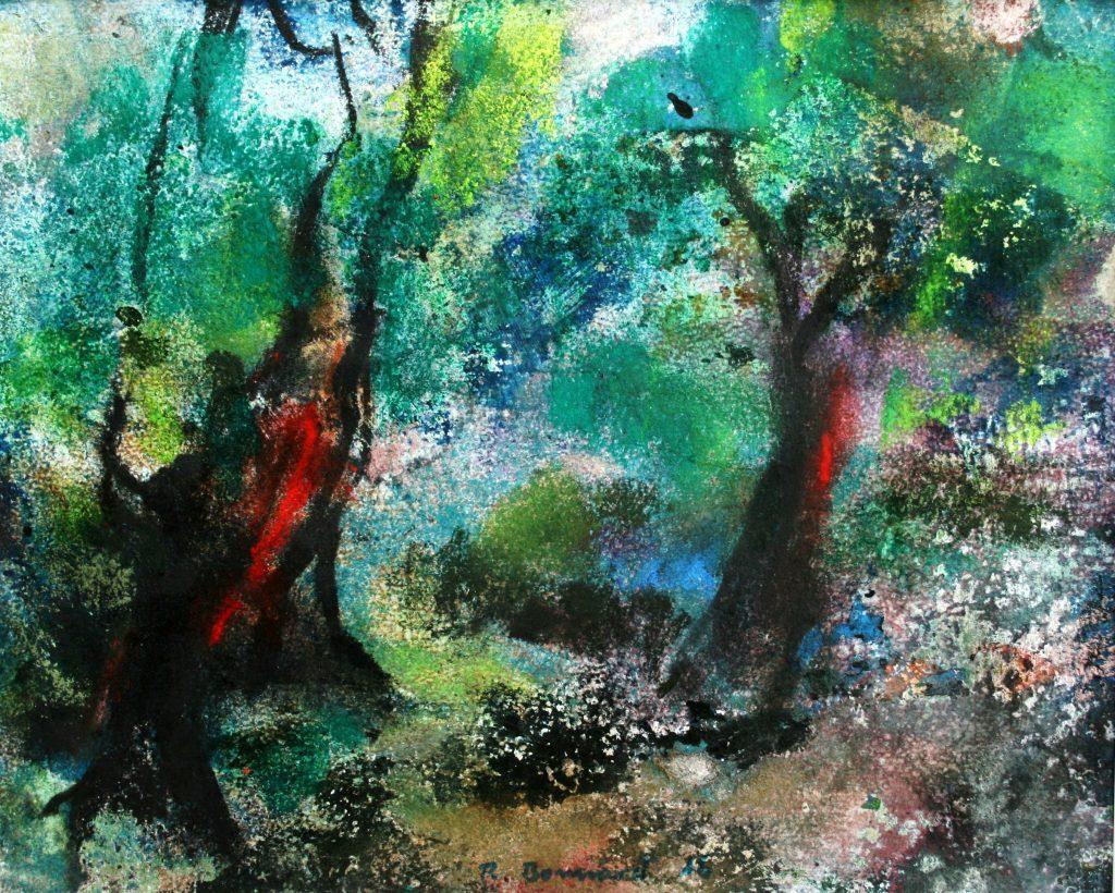 Der Maler Roger Bonnard erschuf 2016 mit Hilfe von Mischtechnik auf Papier sein Werk