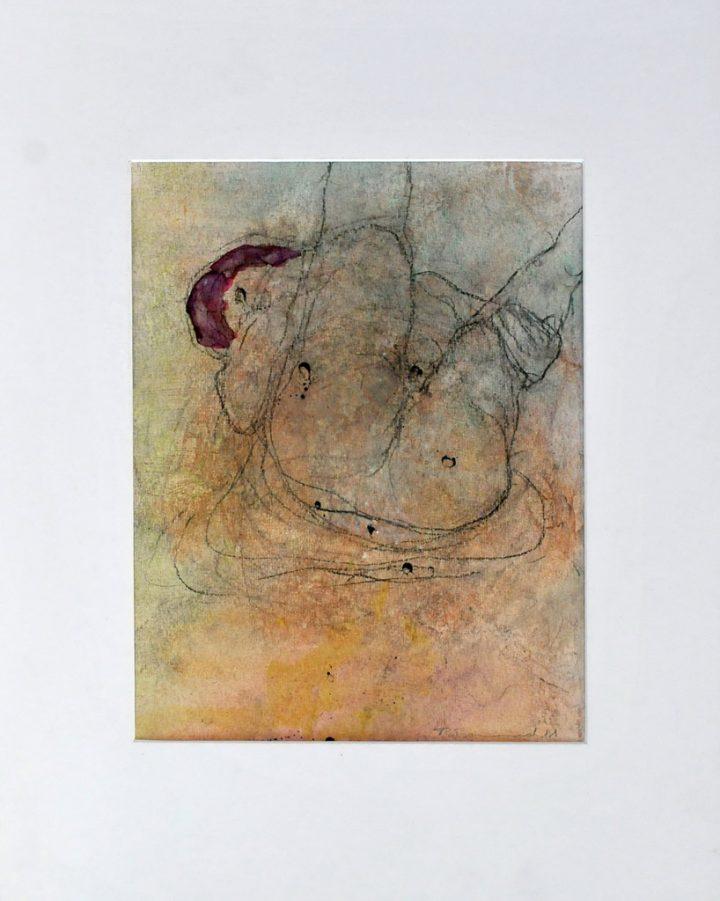 """Pastell """"Liegender Akt"""" des Malers Roger Bonnard"""