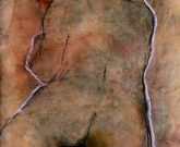 """Der Künstler Roger Bonnard zeichnete dieses Werk mit dem Namen """"Rückenakt"""" im Jahr 2012"""