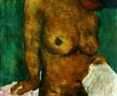 """Der """"Sitzende Akt"""" wurde 2016 durch Mischtechnik von dem Maler Roger Bonnard zu Papier gebracht."""