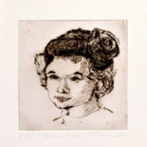 """Radierung """"Madame Rosa"""" (2010) des Künstlers Roger Bonnard"""