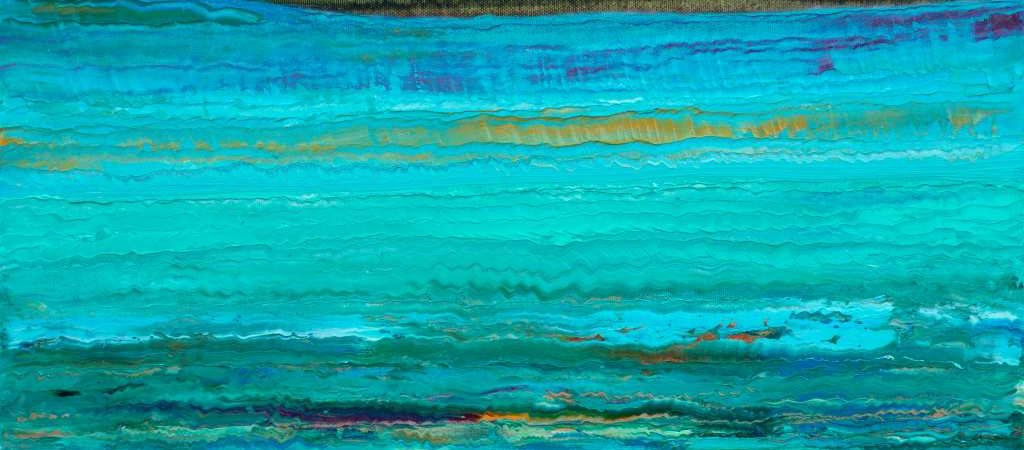 """""""Im sommerlichen Flachwasser der Ostsee"""" malte der Künstler Wieland Richter seine Arbeit 2020 im Format 50 cm x 40 cm mit Öl auf Leinwand."""
